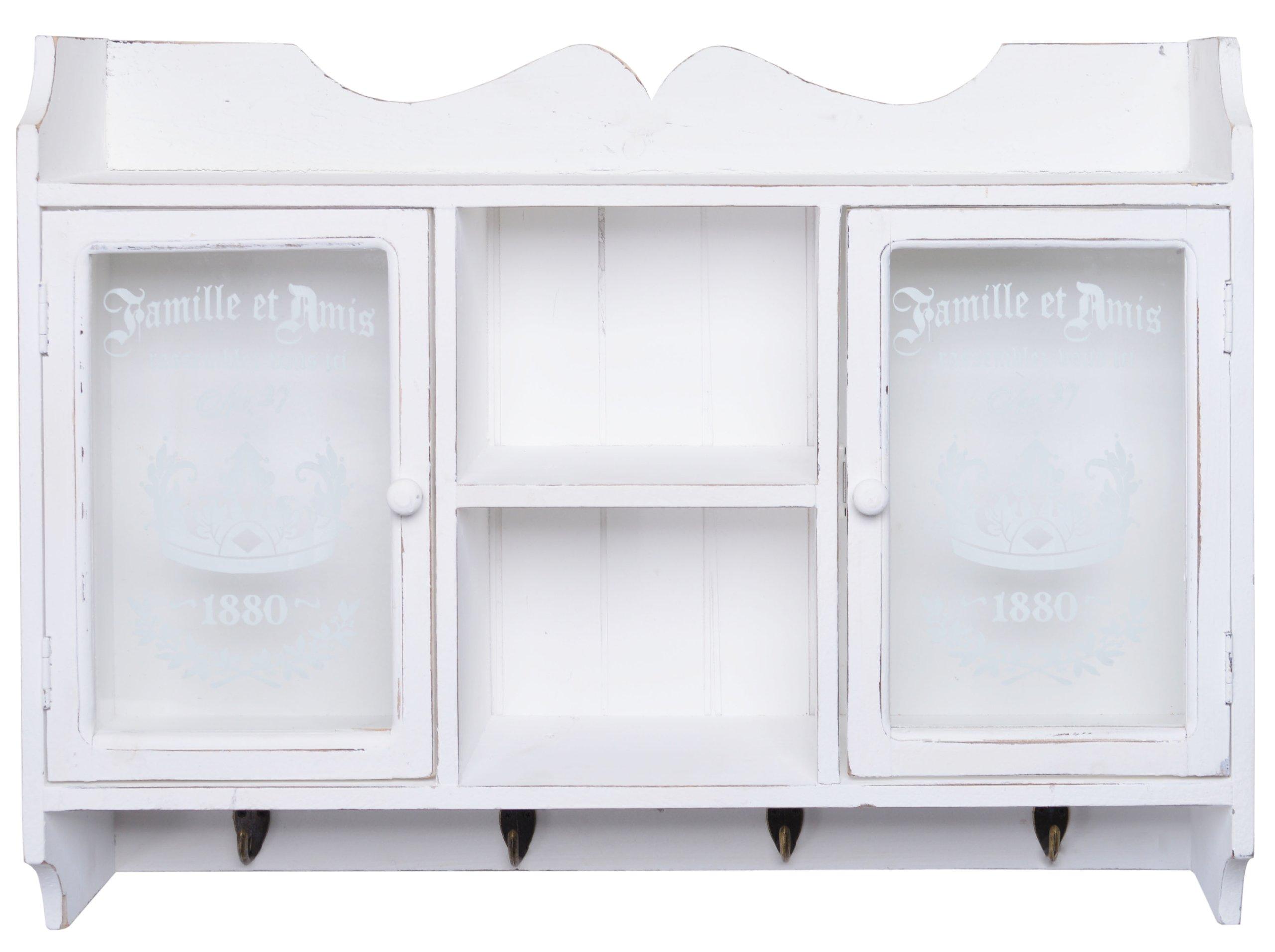 Biela retro závesná skrinka