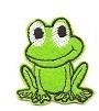 ŻABA зеленый маленький термо M Patch NAPRASOWANKI M