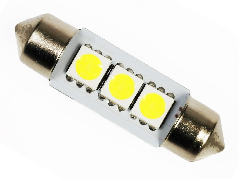 Лампа 3 светодиодная C5W C10W SMD 5050 PIP 36 мм