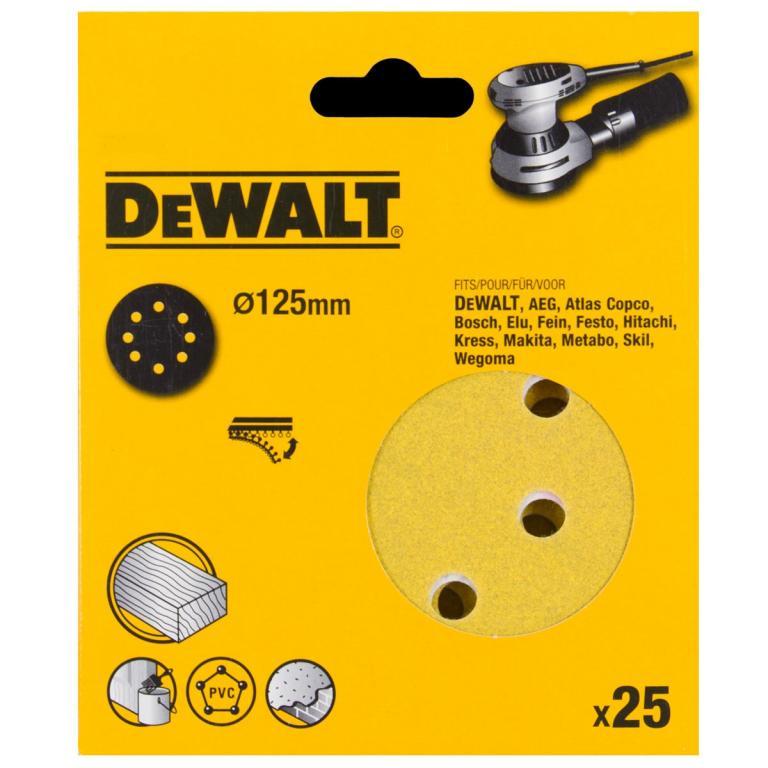 DeWALT DT3117 PAPIER P240 125mm 25ks pre DWE6423