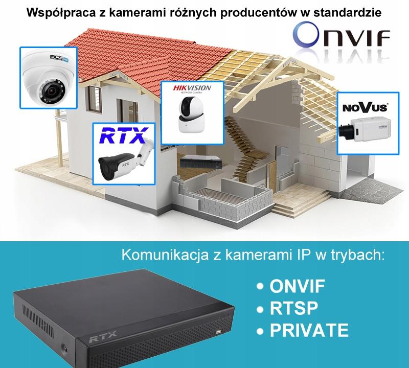 Rejestrator RTX Monitoring IP P2P 16 KAMER LSN9816 Model LSN9816D