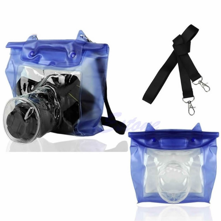Item WATERPROOF CASE CAMERA COVER ON THE LENS