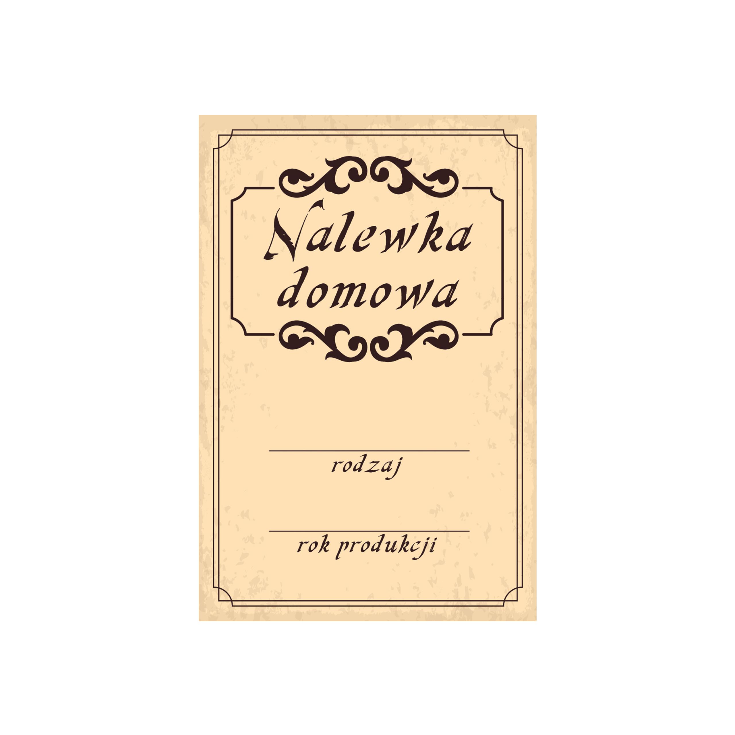 Naklejki Na Butelki Nalewki 64 Nowe Wzory 2szt 7564232251