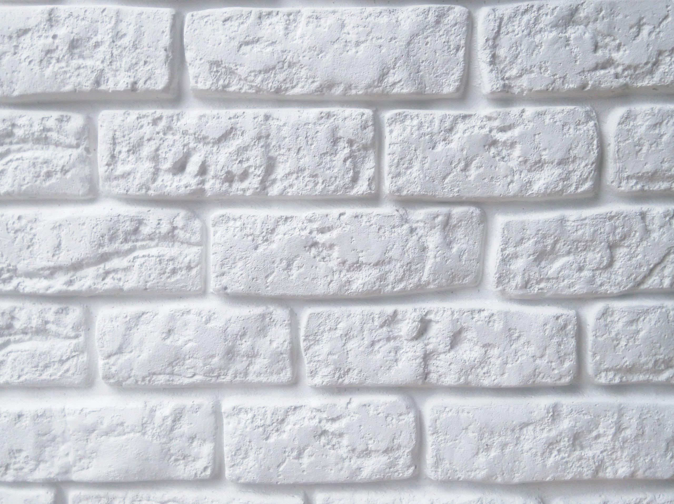 Stara Cegła Biała Płytki Gipsowe Z Fugą Panel 3d