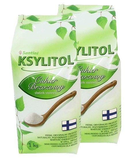 Xylitol, breza cukru pack - 2x1kg - Santiniho