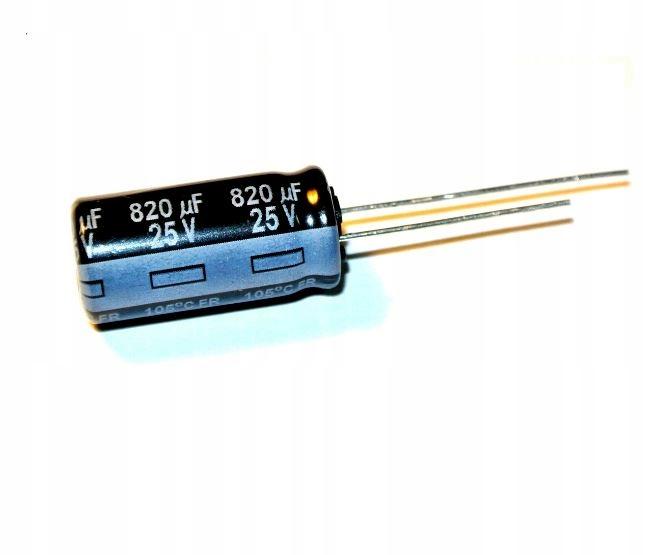 820uF 25V 105' Low ESR Panasonic FR _ [3szt] #907