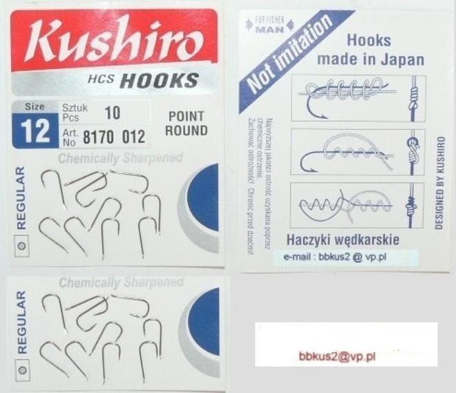 Kushiro Hook 20ks vyrobený v Japonsku Hook Dlhá 12