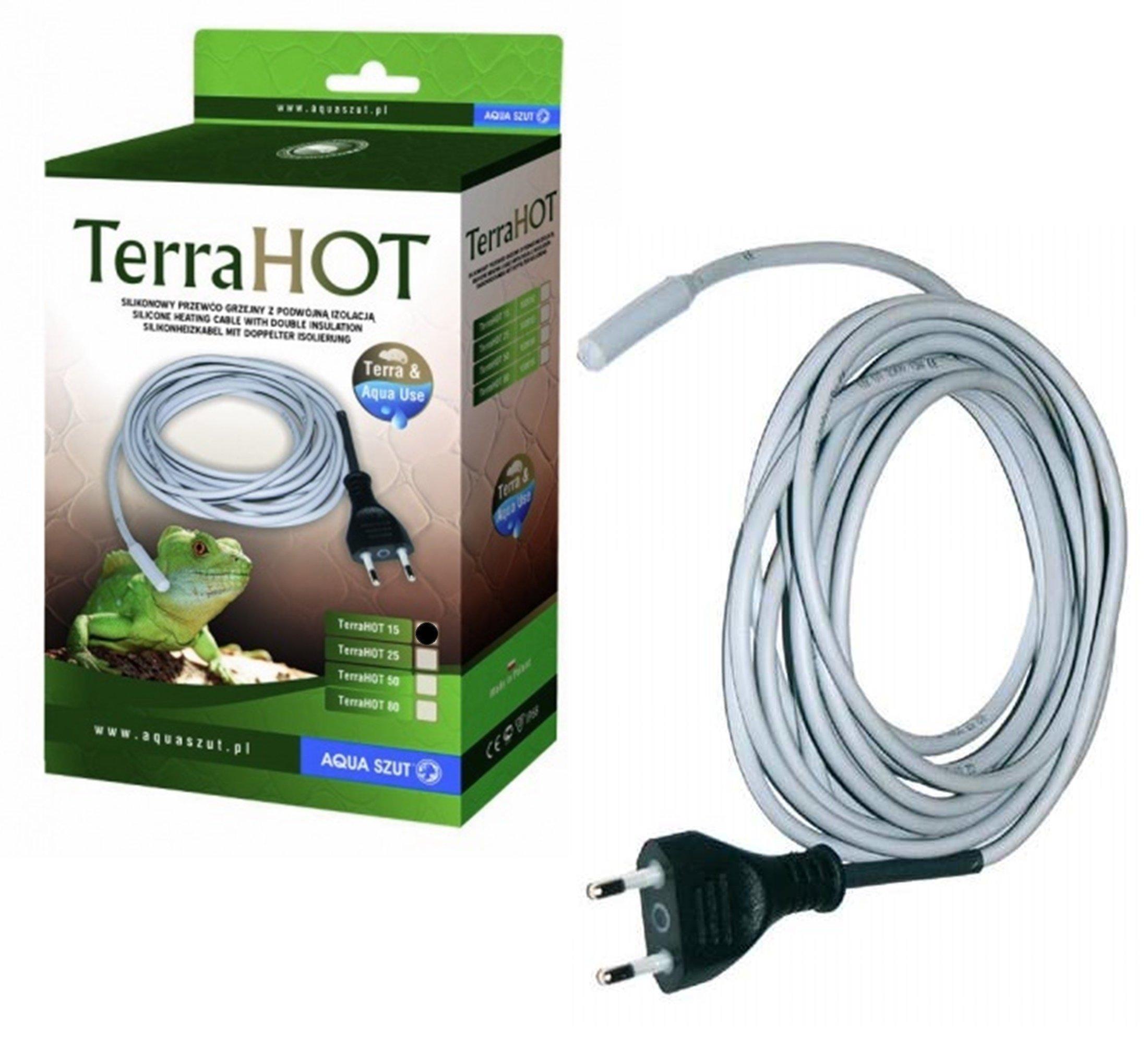 AQUA Terra SZUT HOT 15W je spoľahlivý vykurovacieho kábla