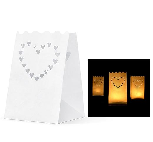 Lanterns-kabelky, tealighty, svadobné srdce