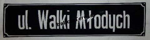 Улица Волки Млодыч - лист эмали