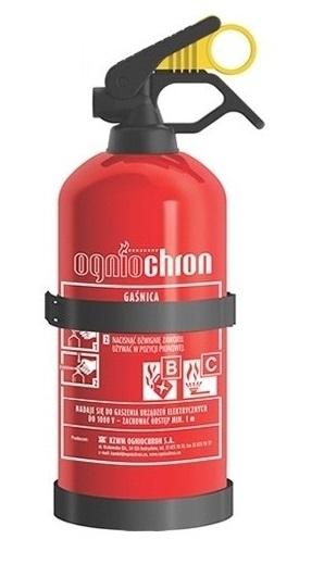 Автомобильный огнетушитель 1 кг 5 лет противопожарной защиты + вешалка