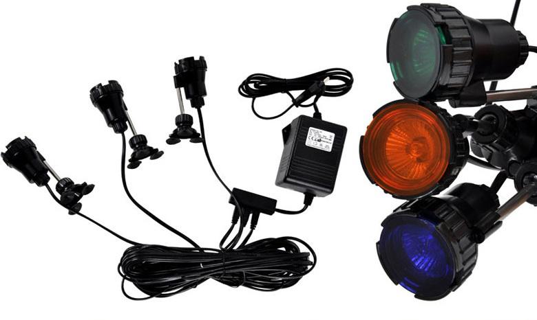 Lampa podwodna do oczka wodnego 3X20W 5 kolorów