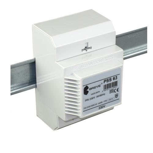 Трансформатор PSS 63 230 / 24VAC для DIN-рейки Breve