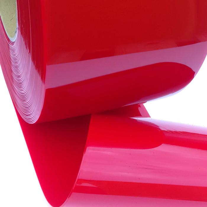 Red PVC Curtain Belts Strip Film 2x200mm