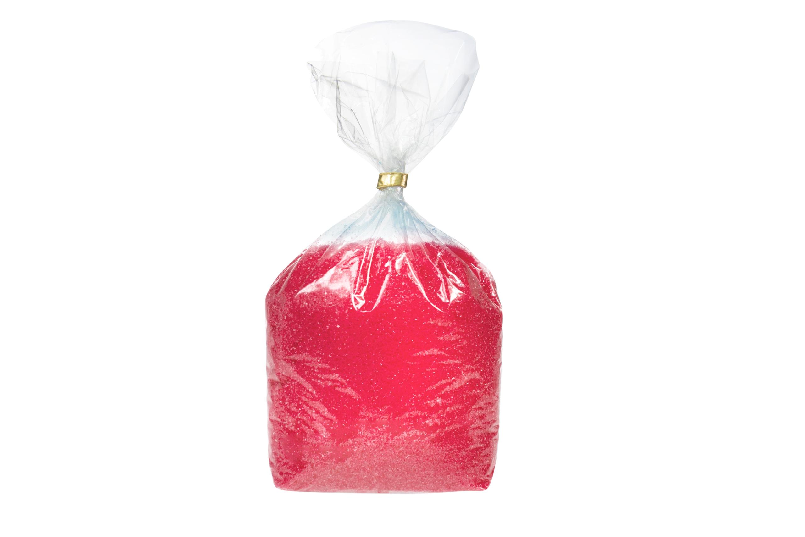 Farebný ochutený cukor pre bavlnené cukrovinky jahody