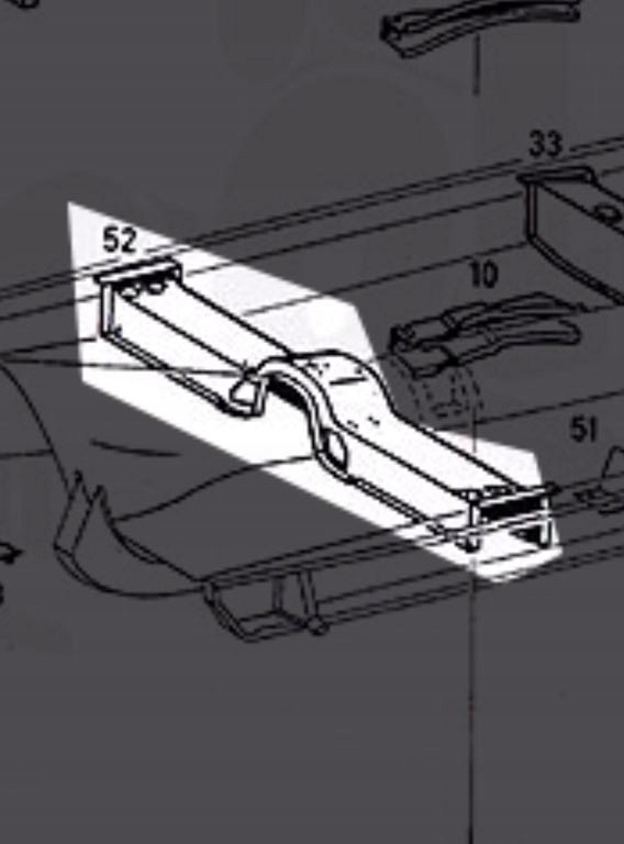 Picture of BEAM CENTER VEHICLE FRAME MERCEDES CABRIO W 111 COUPE