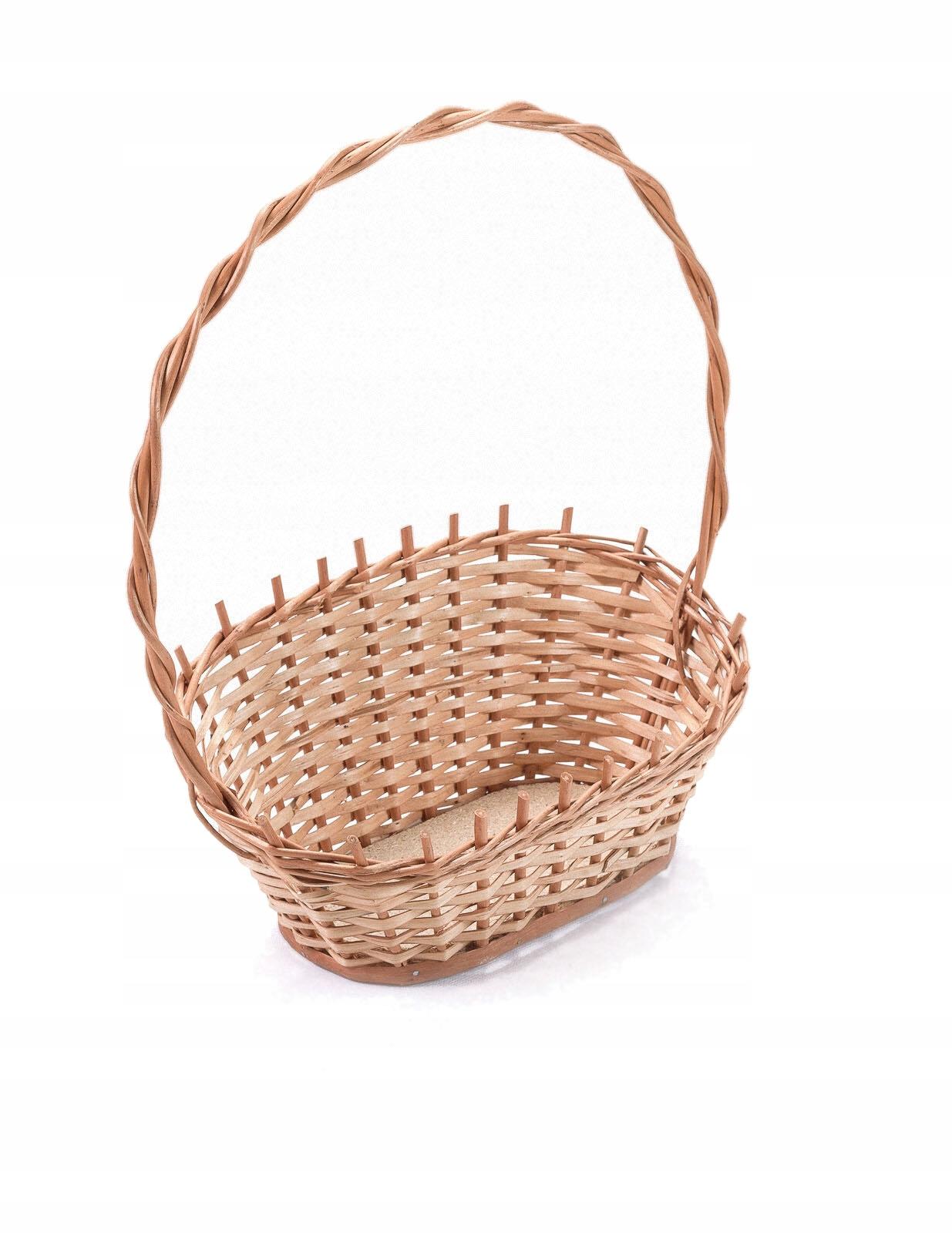 Подарочная плетеная цветочная корзина