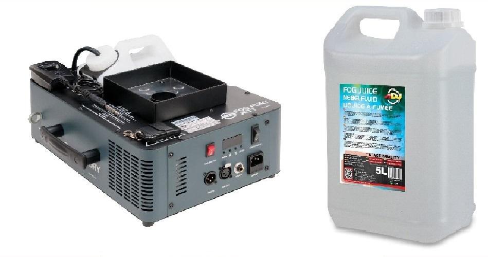 Adj fog Fury JETT + CO2 Fluid + Bezdrôtový diaľkový ovládač