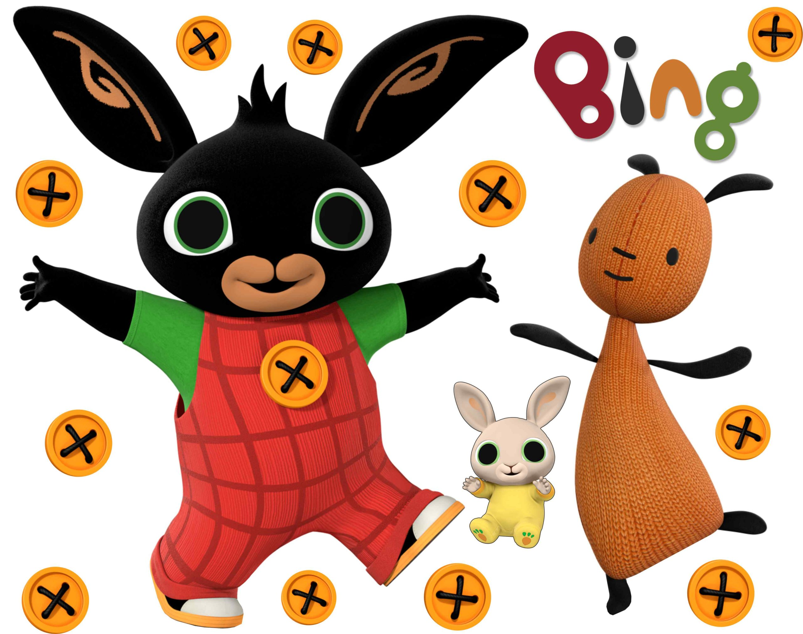 Samolepky Bing Bunny, Flop a Charlie Pack