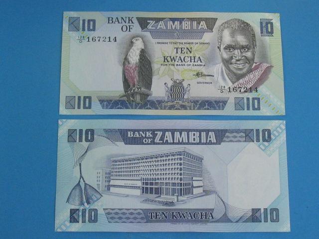 Zambia Banknot 10 Kwacha 1980-88 P-26e UNC