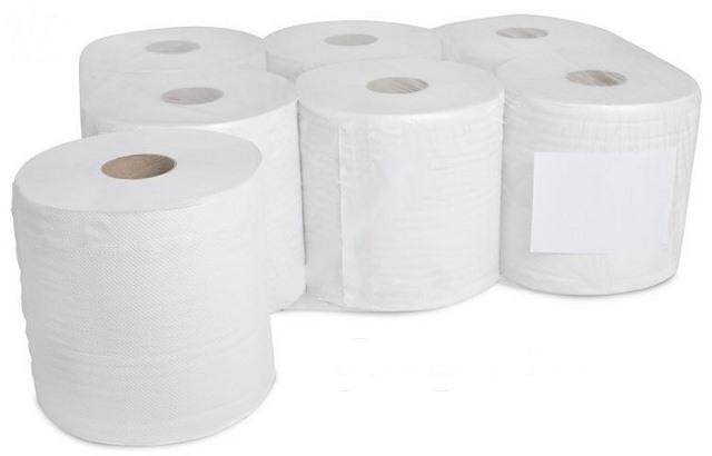 Бумажные полотенца МАКСИ белые 6 шт КРЕПКИЕ 2warstwy