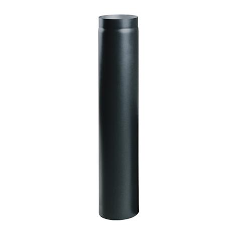 Čierna krbová rúra 100 cm fi 180
