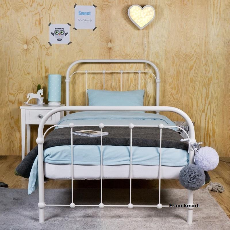 Kovové postele 90x200 biela Výrobca