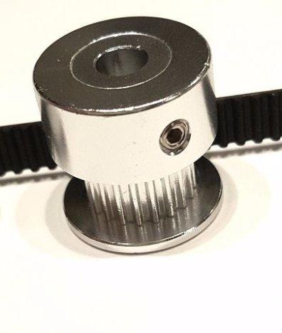 Presné reťazové koleso 20 z. Otvorte 5 mm na GT2 6 mm