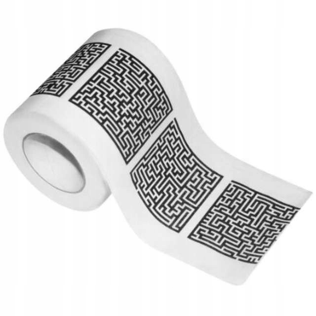 Туалетная бумага ЛАБИРИНТ логические задачи, ХИТ