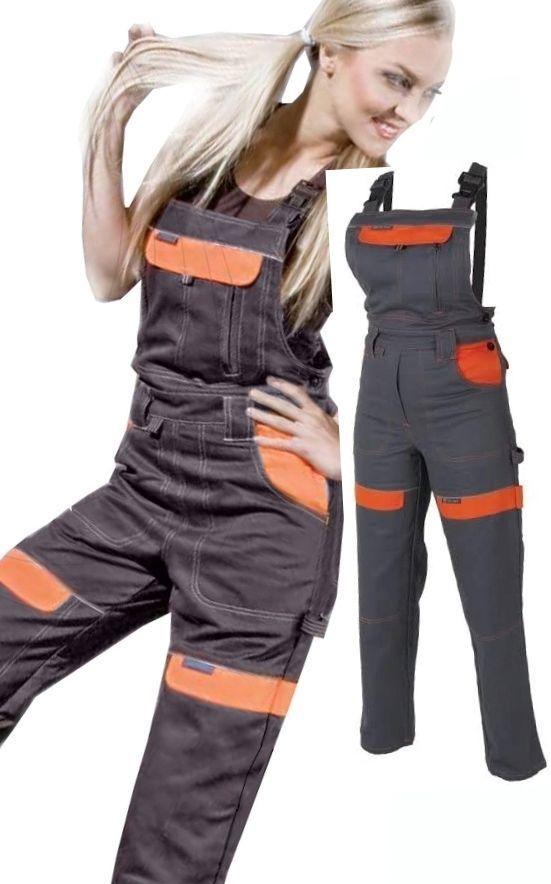 Ogrodniczki damskie robocze spodnie 56 Eu