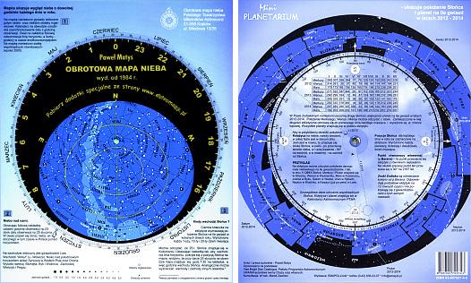 Otočná mapa laminovaných neba, dobrá a lacná, 24h