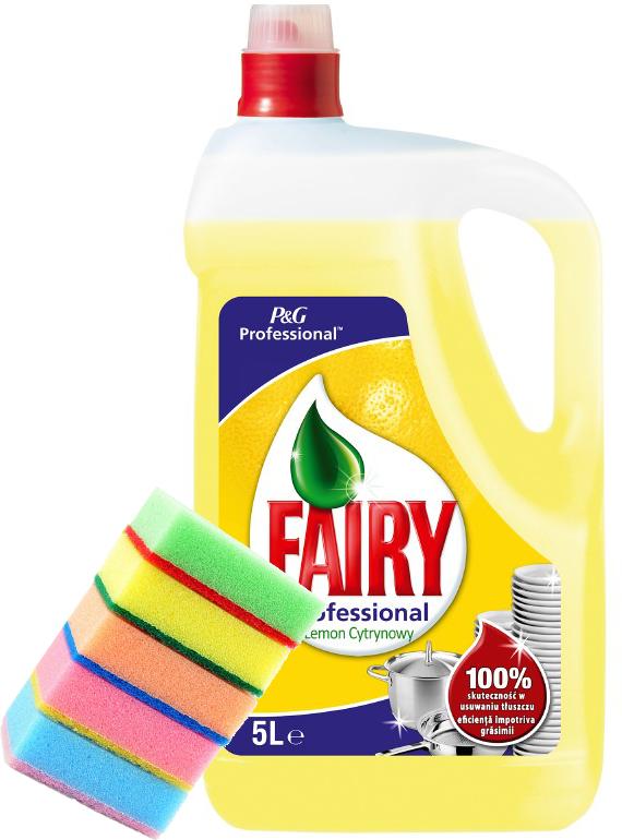 FAIRY ЛИМОН 5л жидкость для мытья посуды + губки 5шт