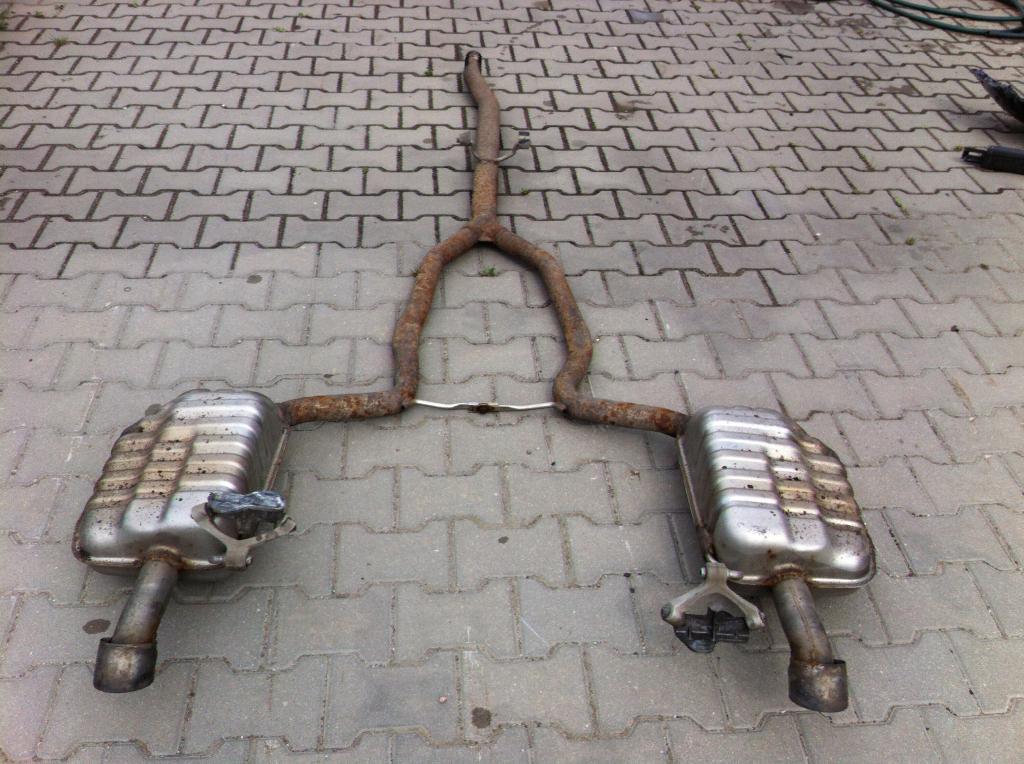 Muffler Mufflers 2 Pcs Exhaust Gas Audi A4 B6 B7 3 0 Tdi