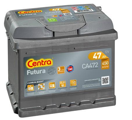 аккумулятор центры futura ca472 47ah 450a