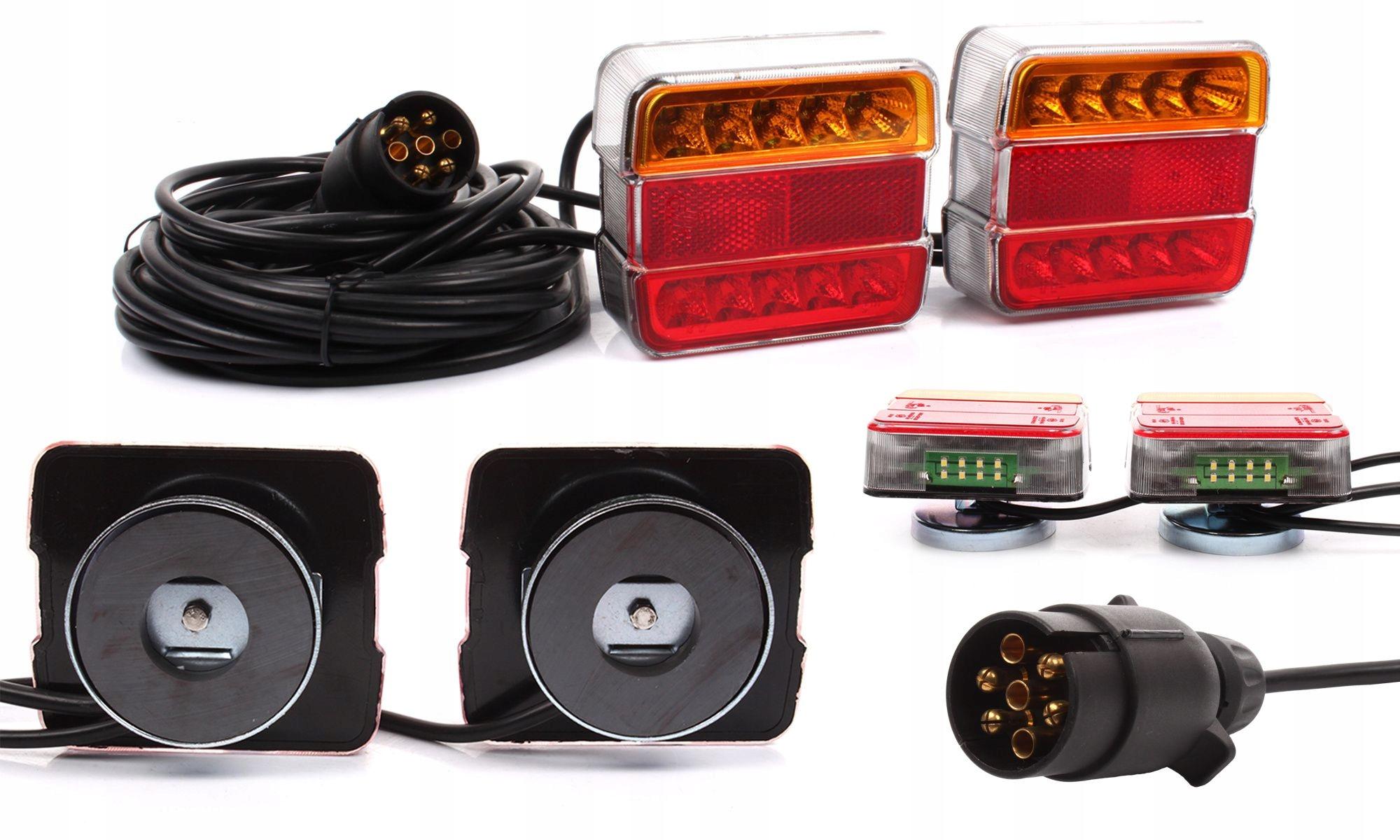 Набор ламповых фар для прицепа Led 12V с магнитом