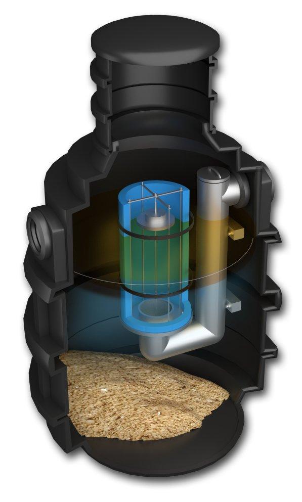 Separator ropopochodnych oleju 1,5l/s OSADNIK