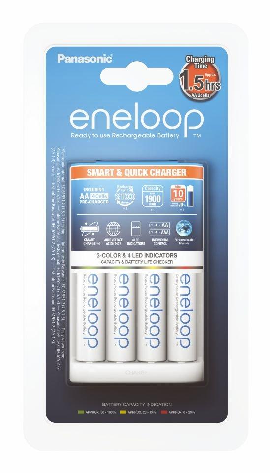 Item ENELOOP CHARGER BQ-CC55 + 4x ENELOOP AA R6 MCCE