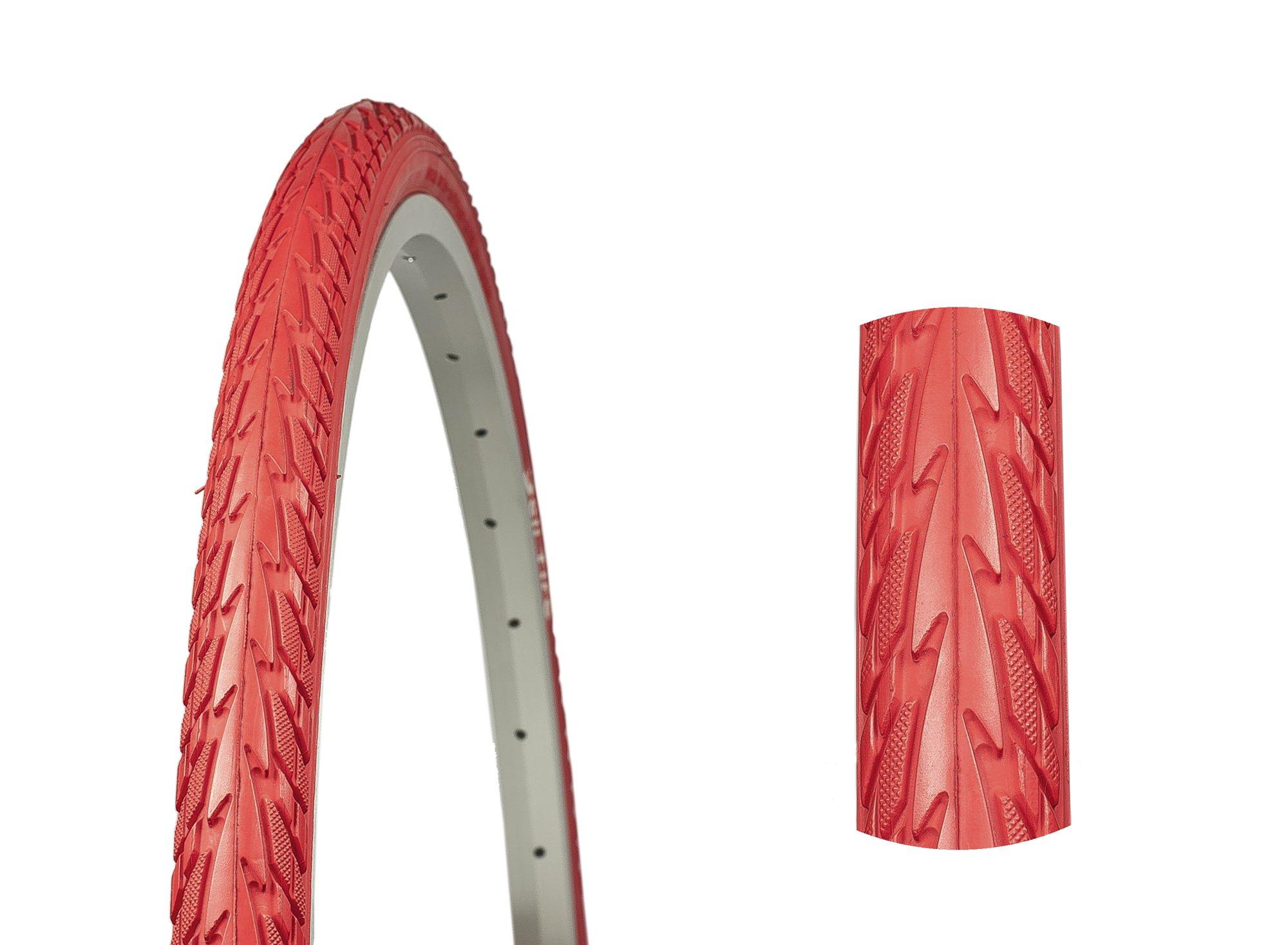 ČERVENÁ pneumatiky 28 x 1 3/8 x 1 5/8 RETRO 700 x 35C