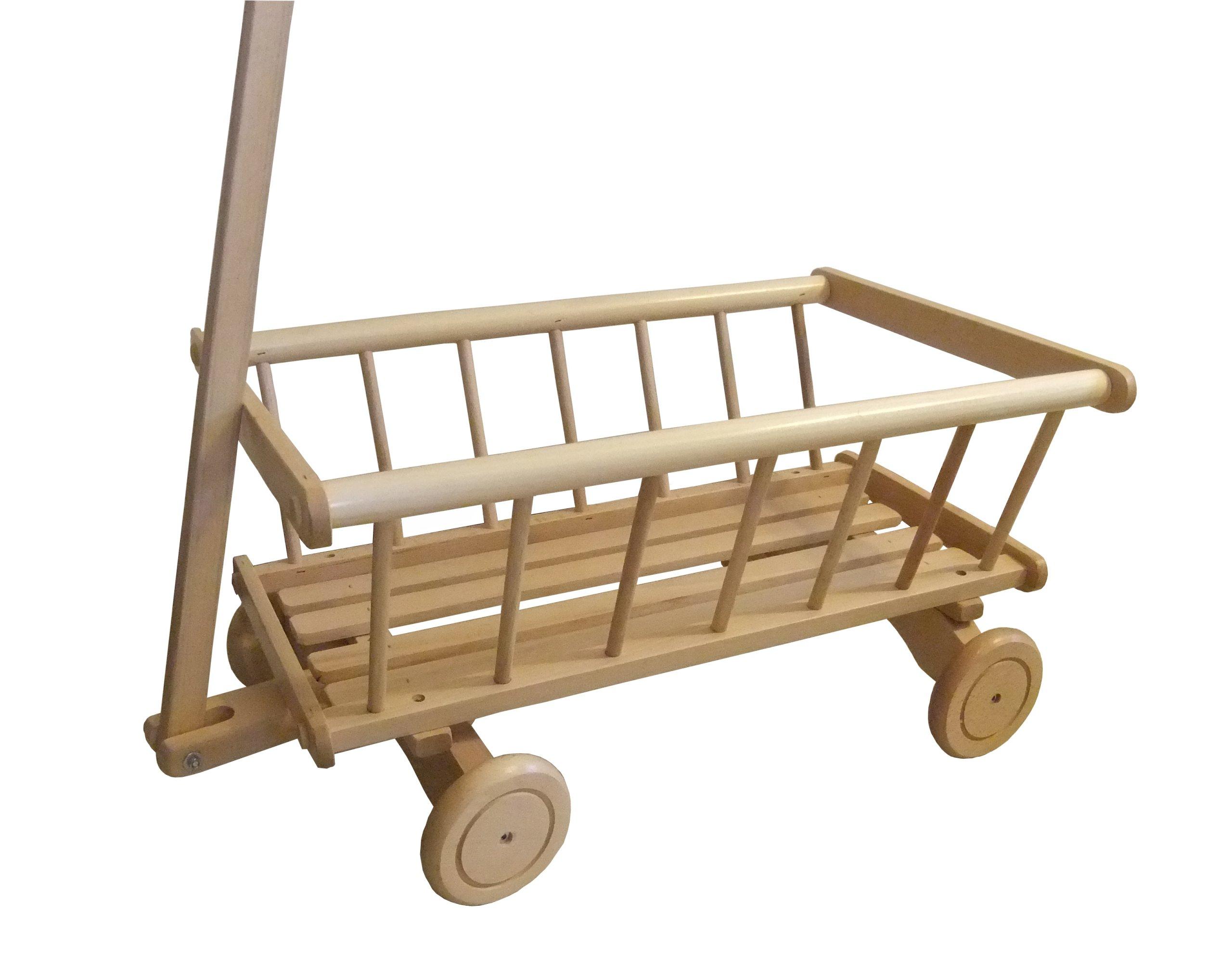 Drevený vozík na hračkársky rebrík