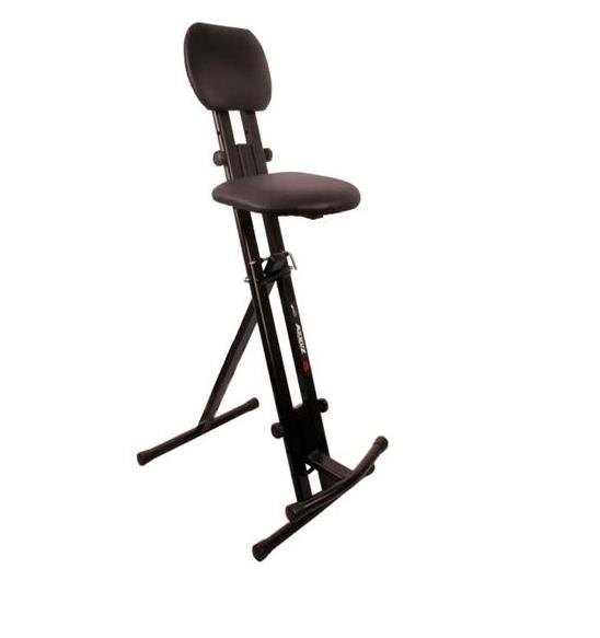 Stolička stolice pre gitarista, klávesnica, hudba