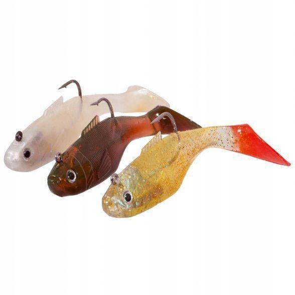 Gumové ryby Spectec 12cm, Nastavte A (3ks)