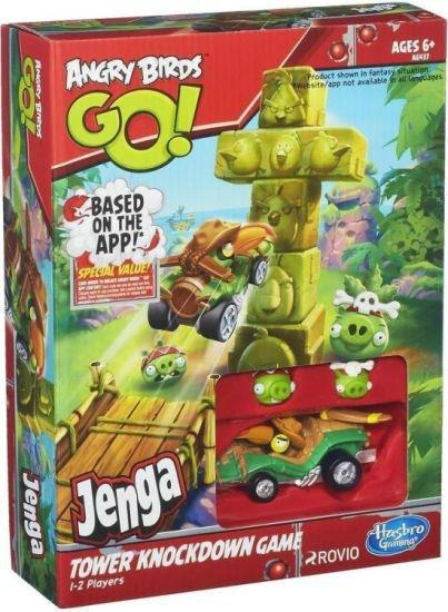Hasbro Angry Birds Go Game hra Jenga Tower Knockdown