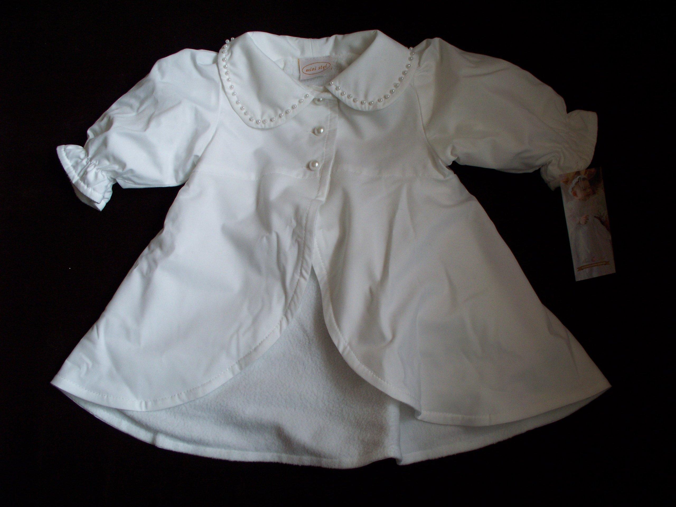 Kabát MINI STYL GLORIA NEW 62 biely retro