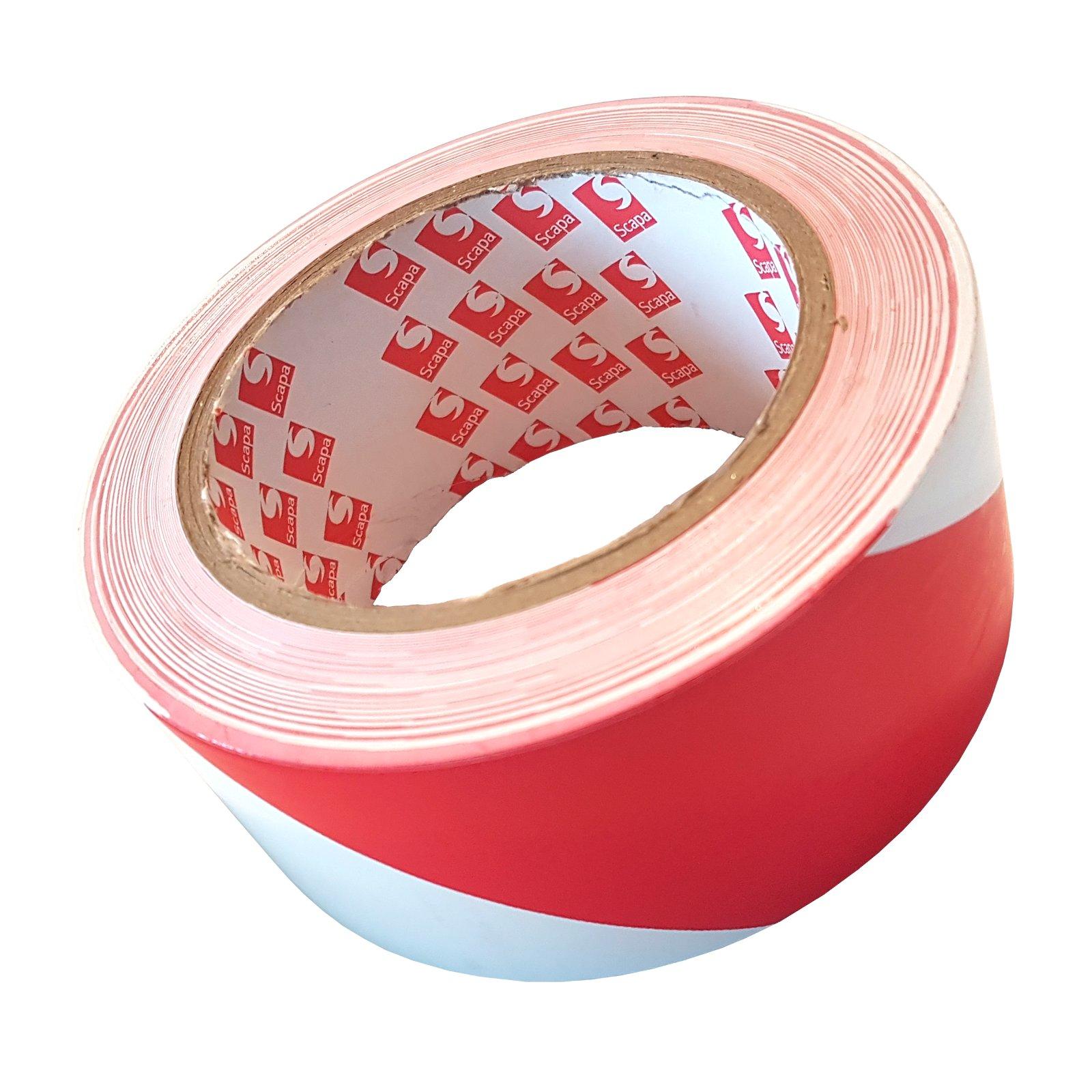 BHP ППОЗ Скапа 2724 50mm/33m Бело-красная лента