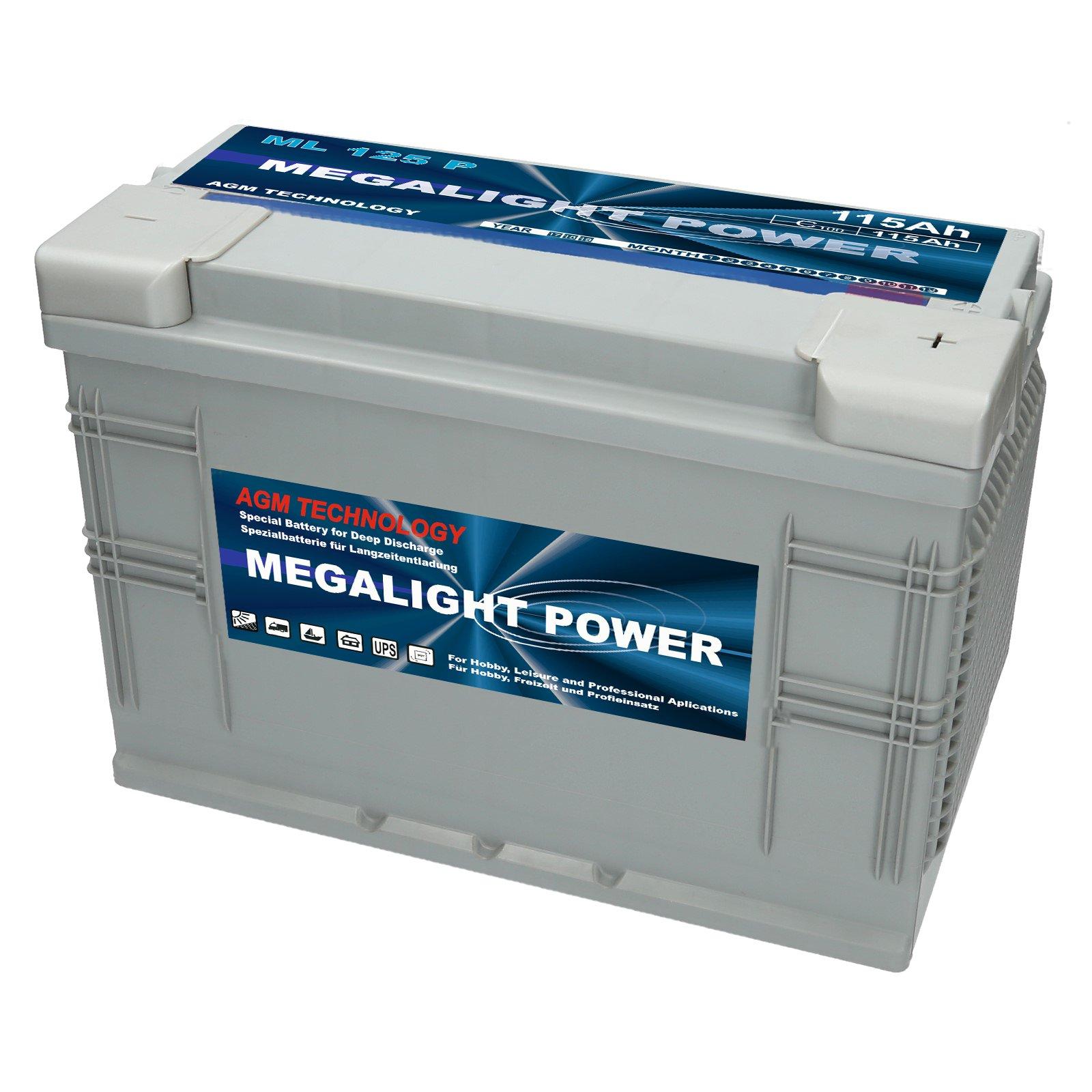 Аккумулятор MEGALIGHT AGM 115Ач. ЭЛЕКТРОПИТАНИЕ ЯХТЫ