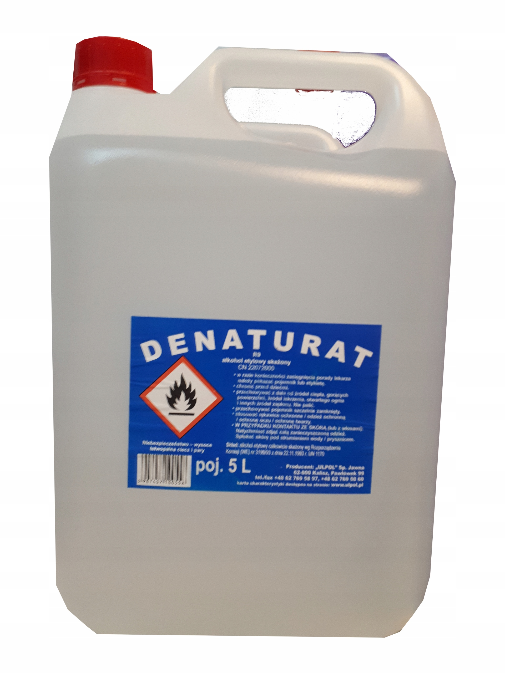 Denaturat 92% rozpuszczalnik bezbarwny/fiolet 5L!