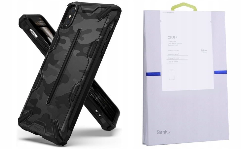 Etui Do Iphone Xs Max Ringke Dual-x Moro+szkło Bks