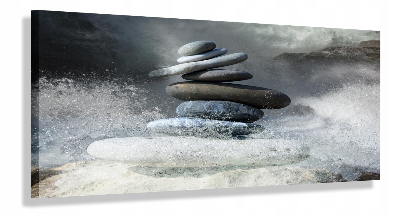Maľba Panorama 100x40 šedá kamenná rýchla dodanie