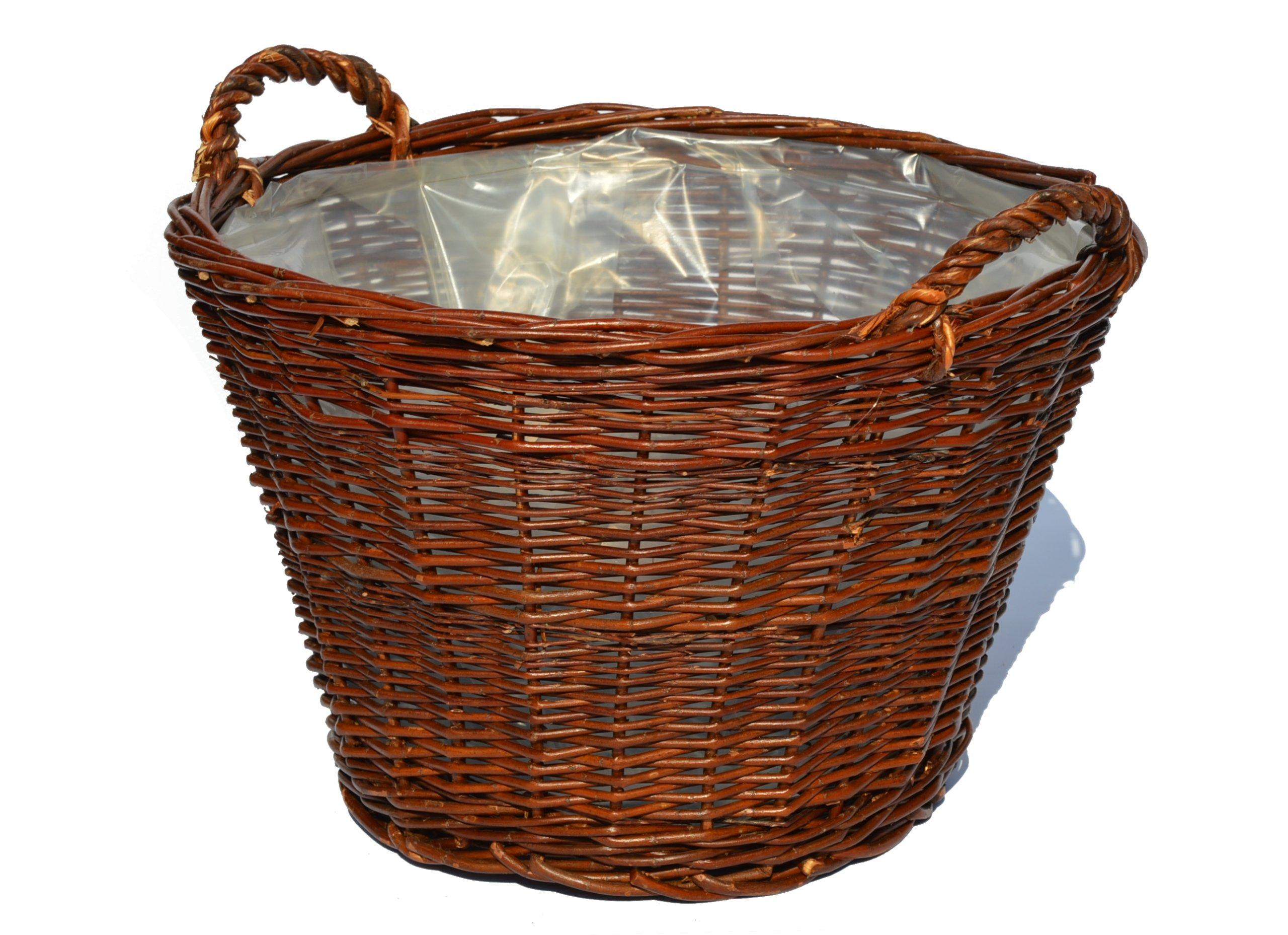 Hospodársky košík Kvetinový shell Prútený FIMA