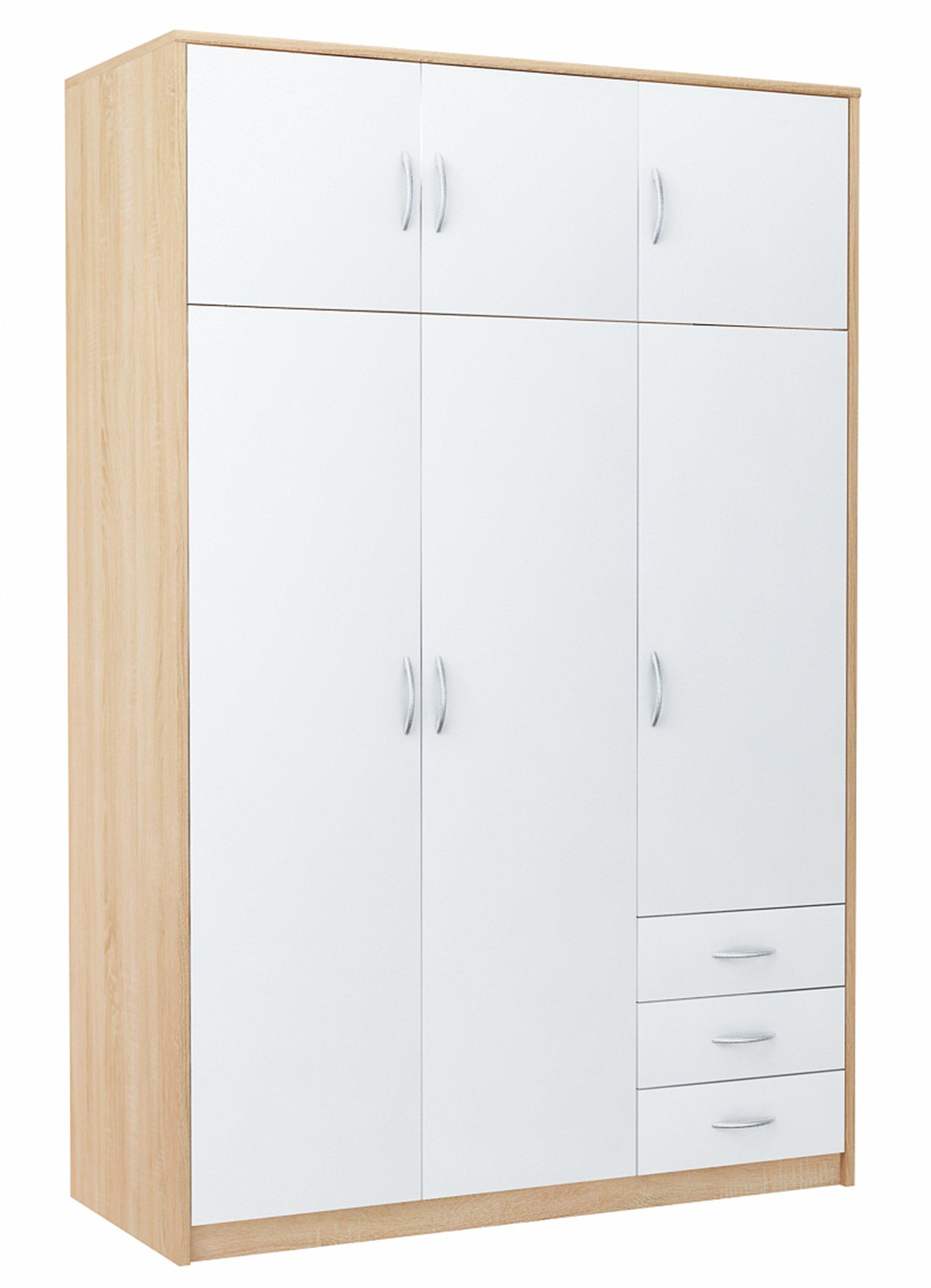 Шкаф платяной 6D3S WHITE-SONOMA комод, книжный шкаф, полка
